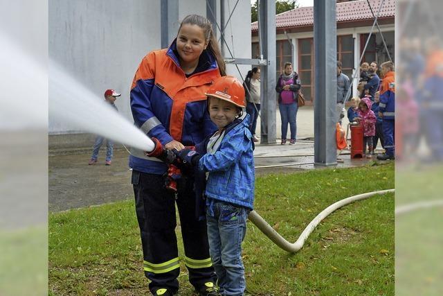 Spaß bei der Feuerwehr