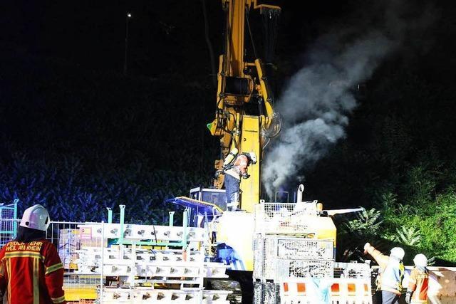 Brandstiftung an Bohrkran: Schaden deutlich niedriger