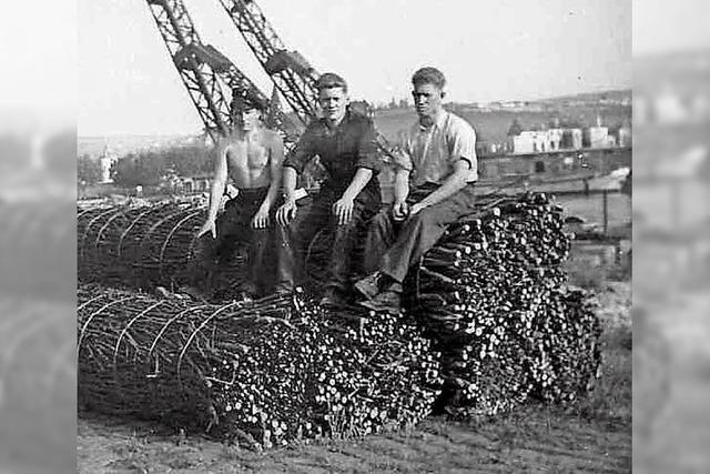 Wilhelm Zeller und Willi Maurer aus dem Ried erinnern sich an den Staustufenbau