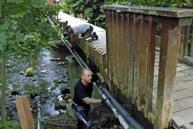 Alte Holzbrücke in Wehr wird abgerissen