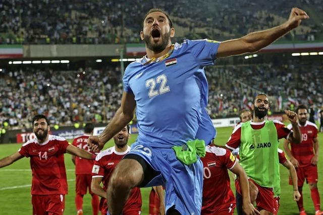 Die syrische Nationalmannschaft ist einer WM-Teilnahme näher denn je