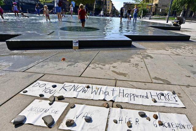 Juden in Freiburg vermissen Beschilderung am neuen Gedenkbrunnen