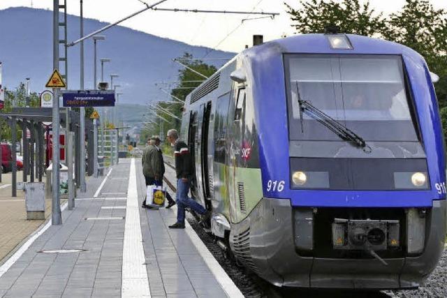 Wegen der Sperrung der Rheintalbahn fahren auf der Strecke Müllheim-Mulhouse Ersatzbusse
