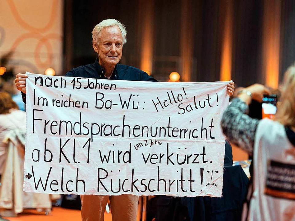 Lehrerprotest gegen Stuttgarter Pläne  | Foto: dpa
