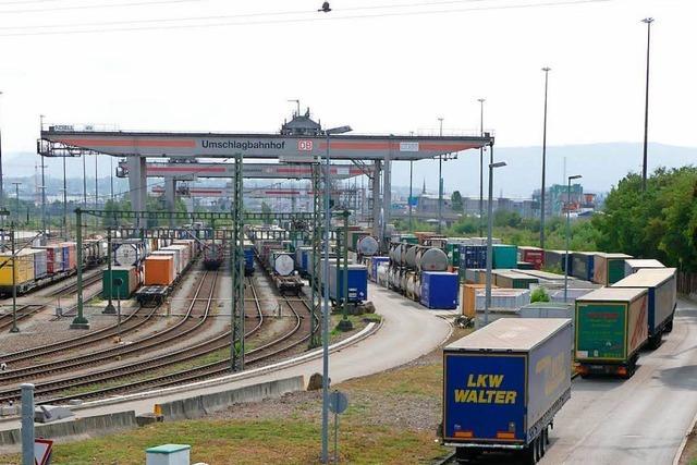 Umschlagbahnhof Weil am Rhein arbeitet am Anschlag