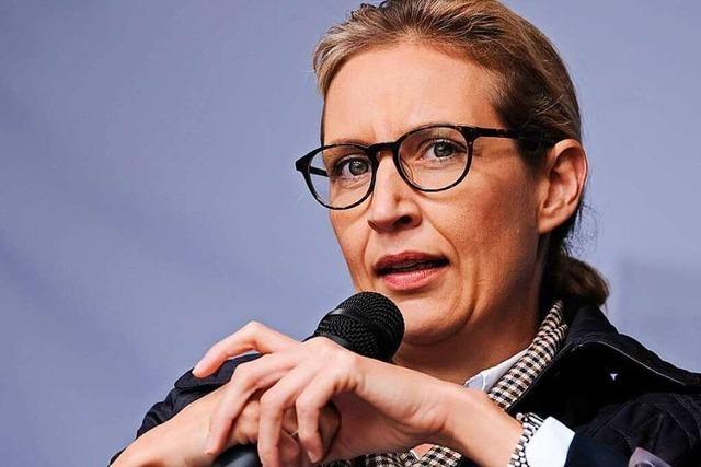 Alice Weidel beklagt beim BZ-Wahltag in Freiburg den