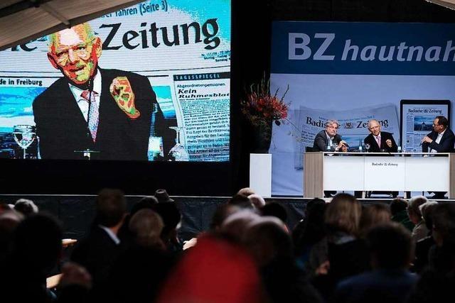 Spitzenpolitiker zu Gast in Freiburg: So war der BZ-Wahltag
