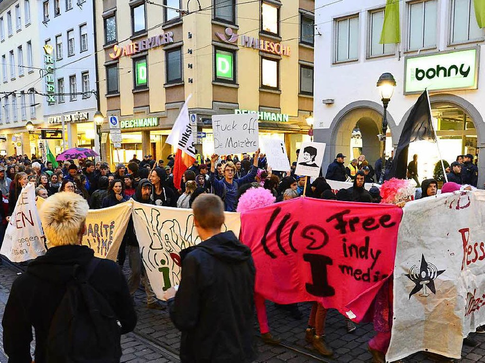 Demonstration gegen Verbot von Indymedia am Samstag  | Foto: Ingo Schneider