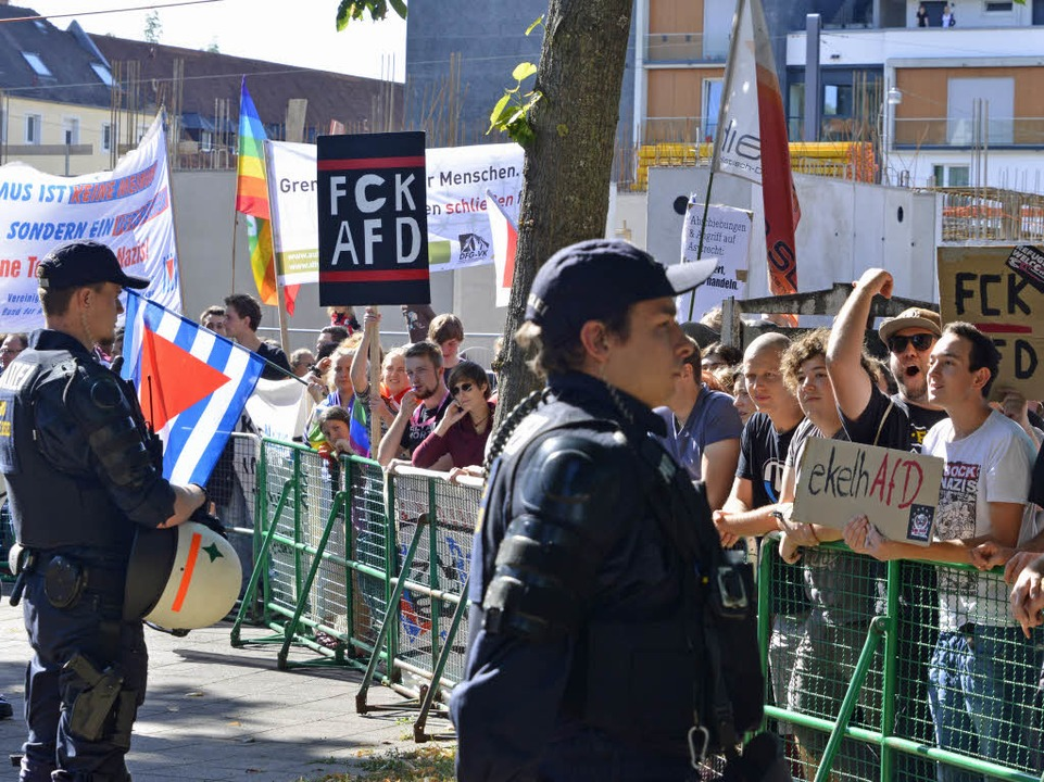 Anti-AfD-Demo in Zähringen  | Foto: Michael Bamberger