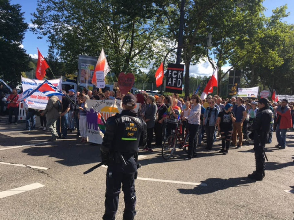 Anti-AfD-Demo in Zähringen  | Foto: Frank Zimmermann