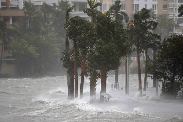 Mit voller Wucht: Hurrikan
