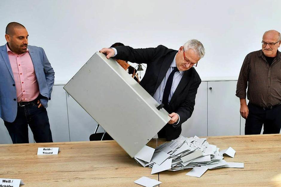 Die Bürgermeisterwahl in Meißenheim (Foto: Wolfgang Künstle)