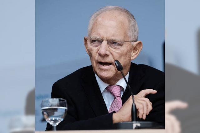 Wolfgang Schäuble wirbt für mehr Zusammenarbeit mit der EU