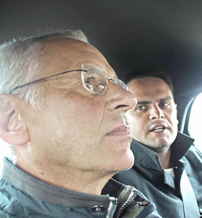Herbert Kost (links) mit  FDP-Kandidat Adrian Hurrle    | Foto: Lehmann