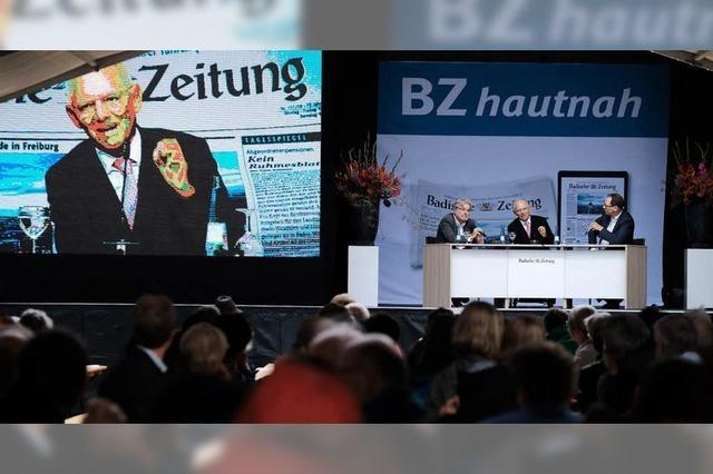 Sechs Spitzenpolitiker zu Gast auf dem BZ-Gelände
