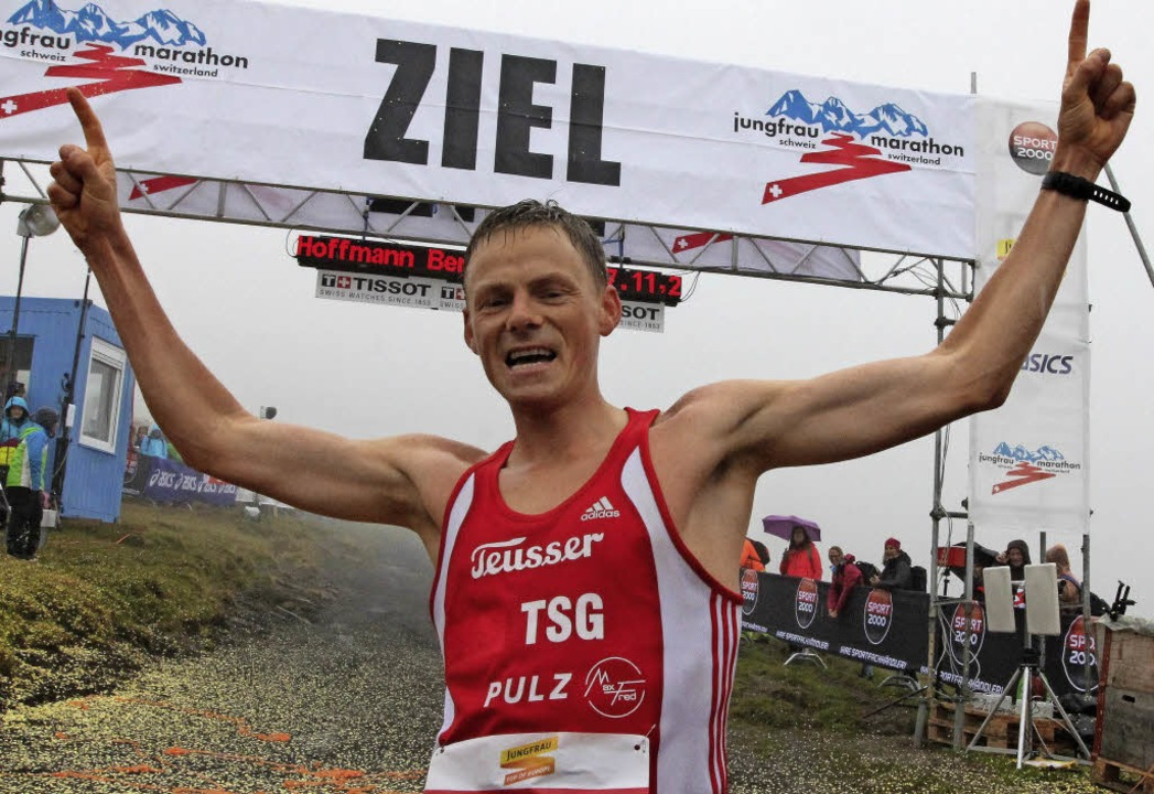 Stark  in den Schweizer Alpen: Benedikt Hoffmann   | Foto: marathon-4you.de