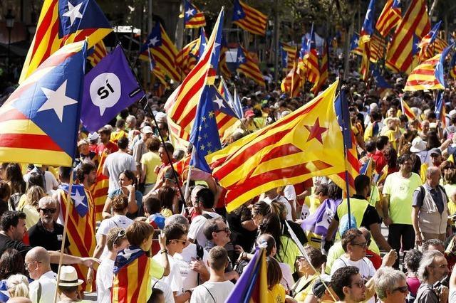Demonstration für Unabhängigkeit