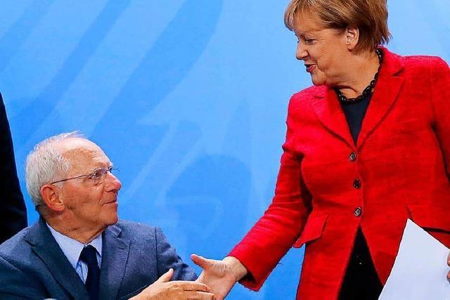 Merkel und Juncker gratulieren Schäuble zum 75.