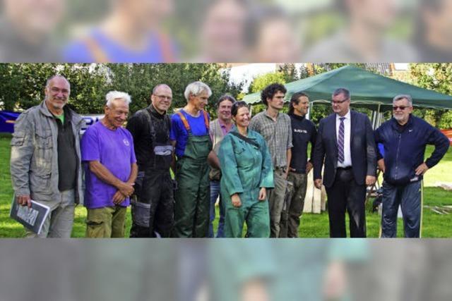 Freiluftatelier für sieben Künstler im Bürgerpark