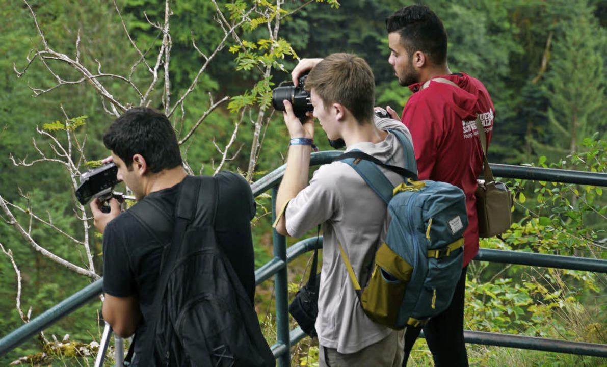Die Jugendlichen entdeckten die Natur fotografisch.   | Foto: Möckel, YEP