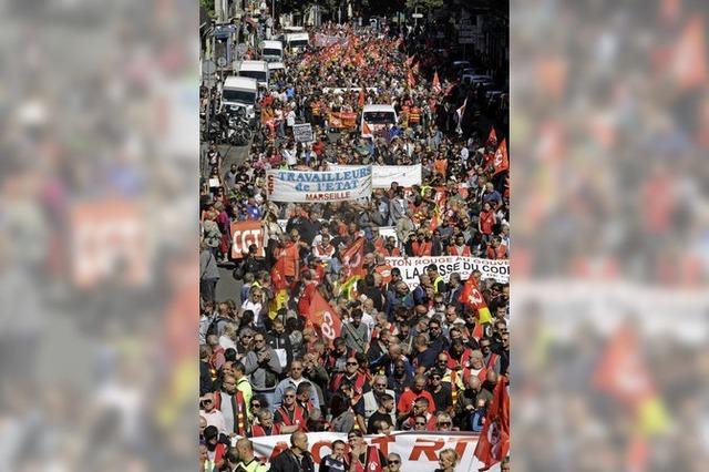 Protest gegen Arbeitsreform