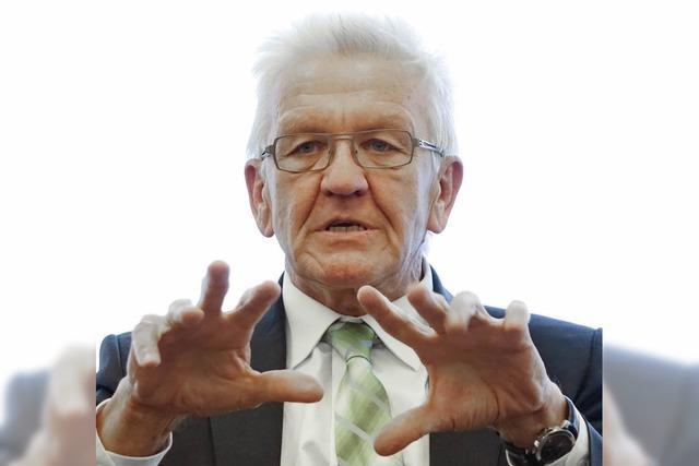 Winfried Kretschmann setzt Fokus auf den Klimawandel