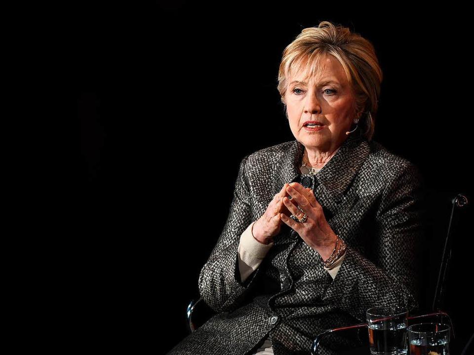 Hillary Clinton, ein paar Monate nach ihrer Niederlage   | Foto: AFP