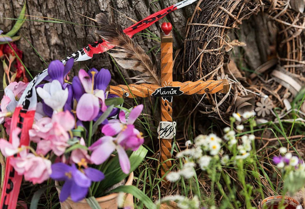 Trauerort: der Tatort  an der Dreisam  | Foto: dpa