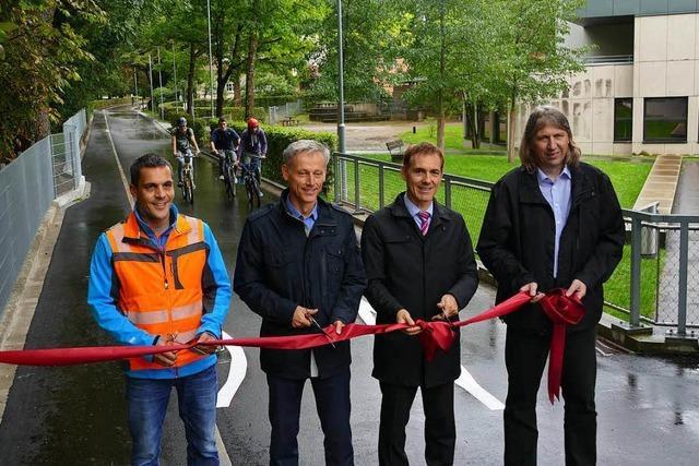 Erste Fahrradstraße in Lörrach eröffnet