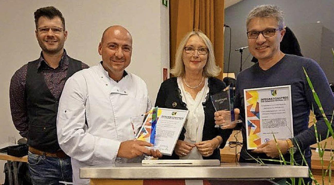 "Michael Schmidt, Franco Jaia, Luisa Li...;Wittnauer Integrationspreises""   | Foto: Anne Freyer"