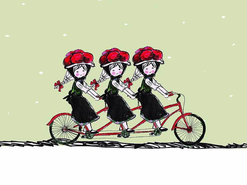 Das Sinnbild für das Team von Papercut: die drei Schwarzwaldmädchen.   | Foto: privat