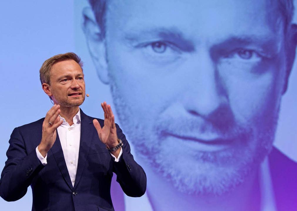 Christian Lindner braucht kein Manuskript, er spricht zumeist frei.   | Foto: dpa/BZ