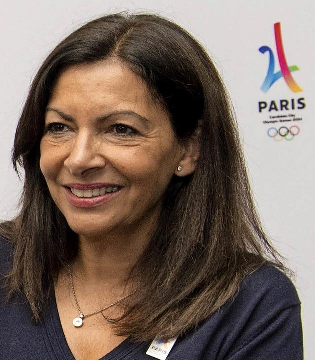 Anne Hidalgo, Bürgermeisterin von Paris in Lima     Foto: AFP