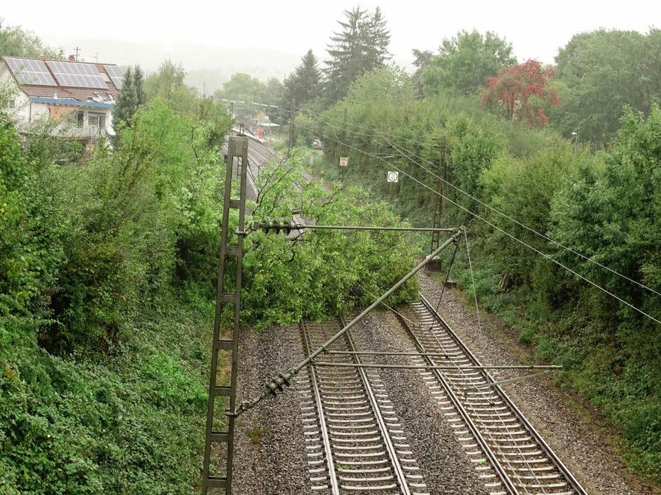 Rheintalstrecke Gesperrt