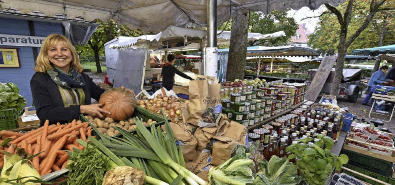 Gemüse und Obst passend zur Saison &#8...Wonnentäler Bauernladen in Kenzingen.   | Foto: Thomas Kunz