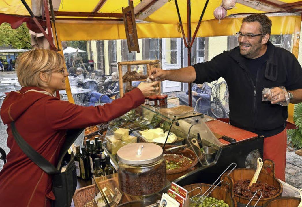 Immer wieder was Neues rund um Oliven: Dirk Schafheutle aus Ihringen.  | Foto: Thomas Kunz