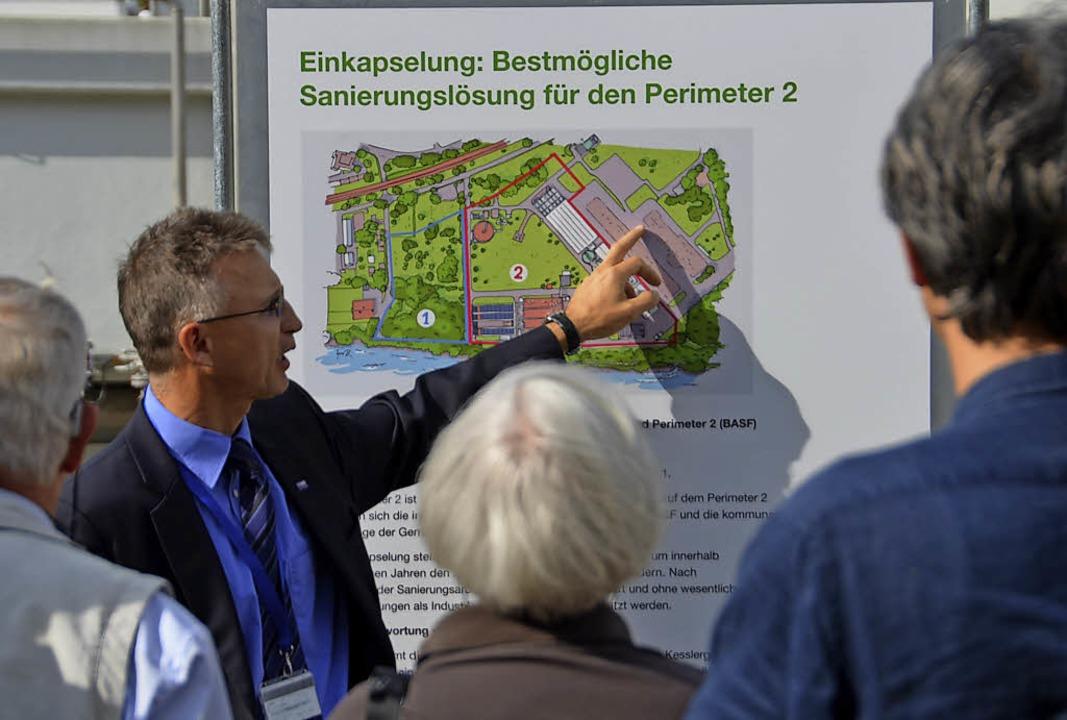 2014 erklärte der Projektleiter der Sa...r Perimeter 2 der Kesslergrube sieht.   | Foto: Peter Gerigk