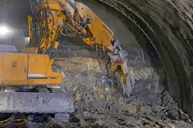 Sprengungen im Herrschaftsbuck-Tunnel bis 22 Uhr