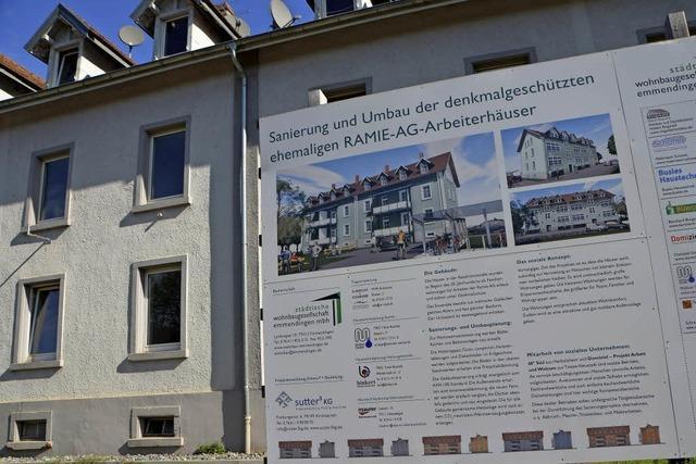 Wohnbaugesellschaft hat mit der Sanierung des zweiten der ehemaligen Arbeiterhäuser der Ramie AG begonnen