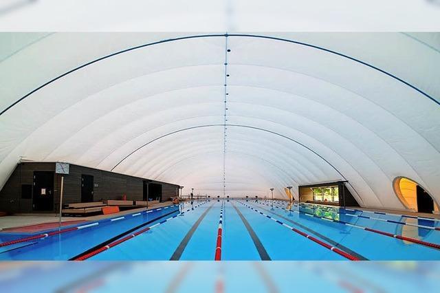 Dach fürs 50-Meter-Becken