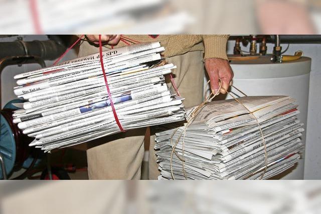 Sammlung von Altpapier