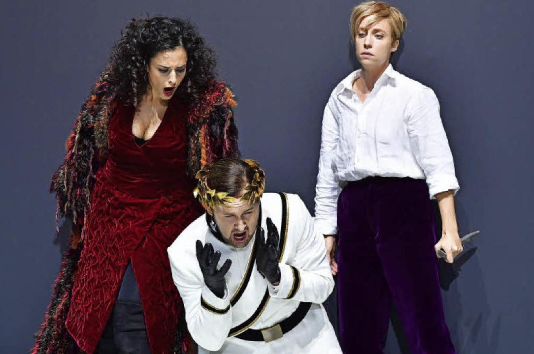 "Hila Fahima, Jussi Myllys, Kristina St...22;Lucio Silla"" am Theater Basel  | Foto: Sandra Then"