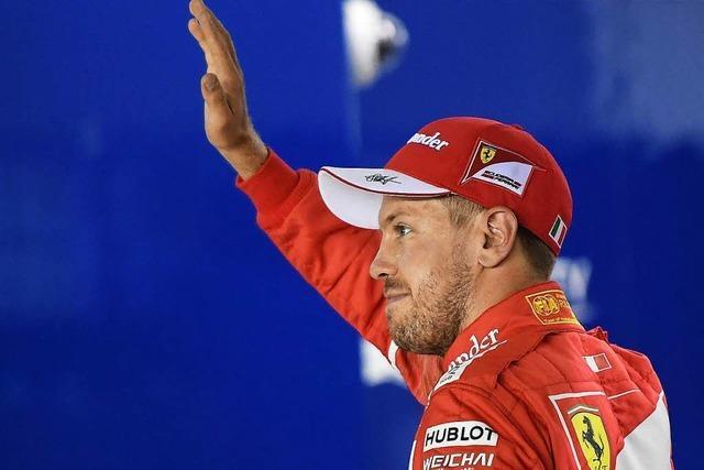 Sebastian Vettel wehrt Angriff in Singapur ab