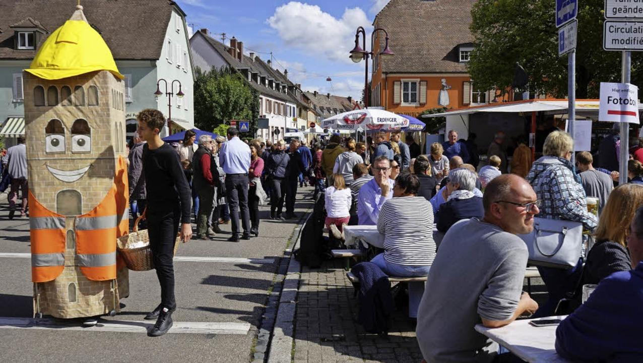 Auf viele zufriedene Festbesucher traf...feld der Umgestaltung der Innenstadt.   | Foto: Julius Steckmeister