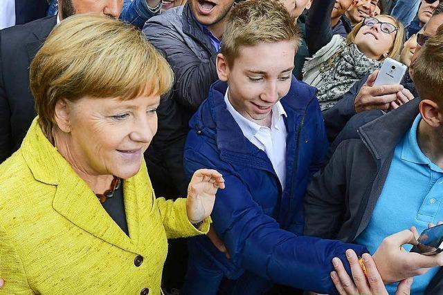 Wie war's bei… Angela Merkel auf dem Münsterplatz?