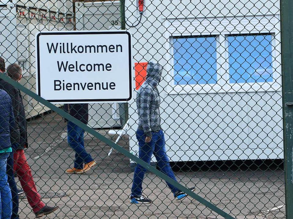 Die Unterkunft für Asylbewerber im Gewerbepark Breisgau   | Foto: Wolfrum