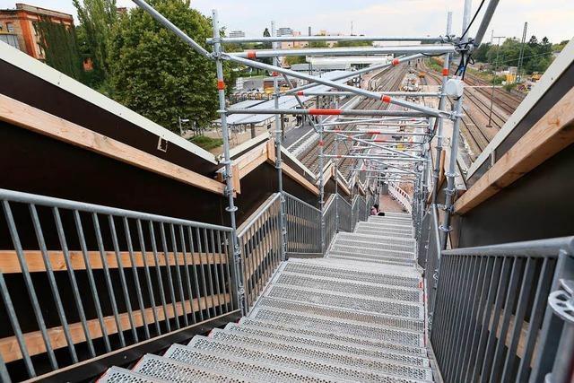 Behelfsbrücke am Lahrer Bahnhof wird Mitte Oktober abgebaut