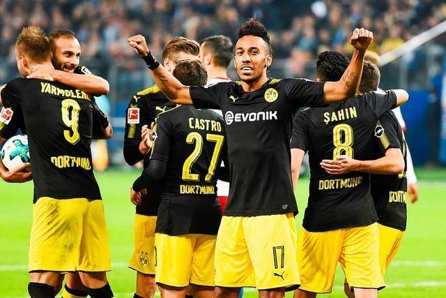 Dortmund gewinnt klar mit 3:0 in Hamburg