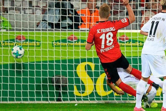 SC Freiburg spielt dank Nils Petersen 1:1 gegen Hannover 96