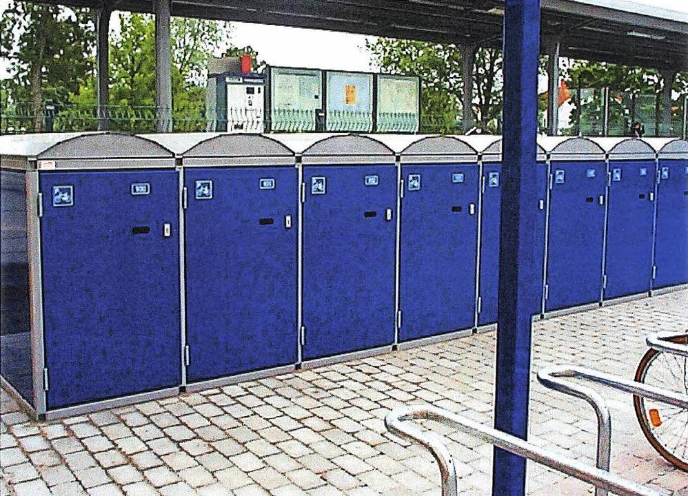 Zusätzliche Fahrradcontainer am Heiter...zer besser gegen Diebstähle schützen.   | Foto: Stadt Heitersheim